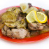 chicken liver with lemon and onion