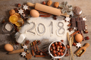 2018, baking new year