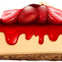 Strawberry cheesecake with jam illustration